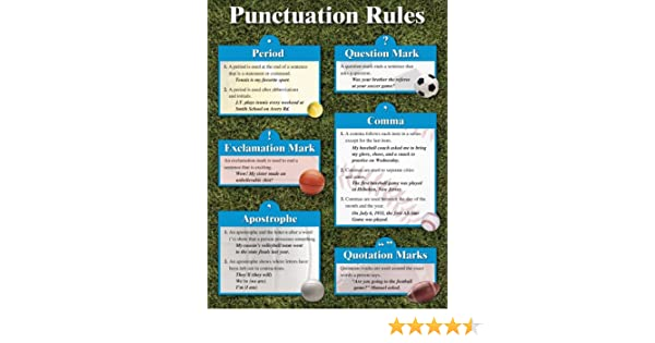 Punctuation Rules Cheap Chart (Cheap Charts): School Specialty ...