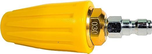 Rotating Nozzle and 5 Tips M MINGLE Turbo Nozzle for Pressure Washer 1//4 Inch Quick Connect 3600 PSI Orifice 2.5