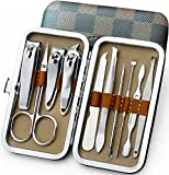 personal REFAGO 10 in 1 Manicure Pedicure Set Nail Clippers set - Stainless Steel Personal Manicure & Pedicure & Grooming Kit