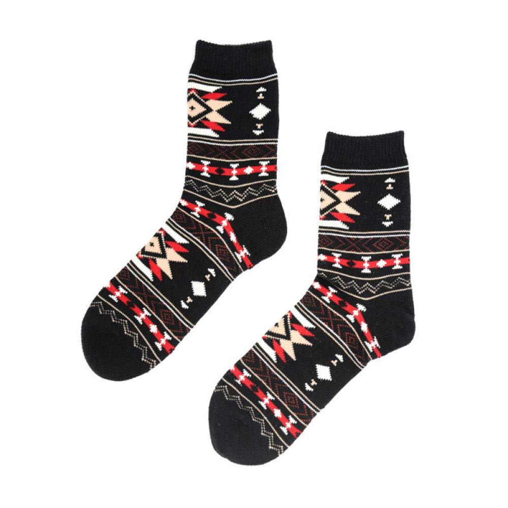 Tube Sock 10 Pairs Autumn Winter Retro Warm Short Socks Women Fashion Colorful Funny Socks Female Ankle Cotton Sock Thicken Harajuku Black by TIGERROSA