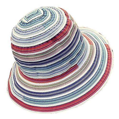 EUBUY Narrow Brim Ribbon Braid Summer Beach Hat Sun Hat Cap Sun Visor Cloche Hat for Women Laides Girls White - Summer Braids