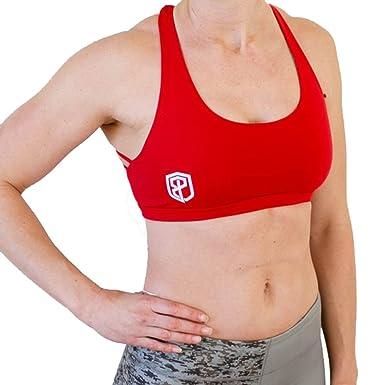 bbf3a76622 Amazon.com  Born Primitive Vitality Sports Bra (Red)  Clothing