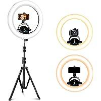 SUNUP 18 tums ringljus med utdragbart stativ och mobiltelefonhållare, LED selfiering för tiktok/live-överföring/makeup…