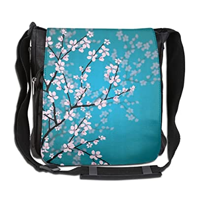 Japanese Sakura Flowers Fashion Print Diagonal Single Shoulder Bag