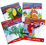 Extreme DOT to DOT Puzzle Books _ Bundle of 4 Unique Books by MindWare