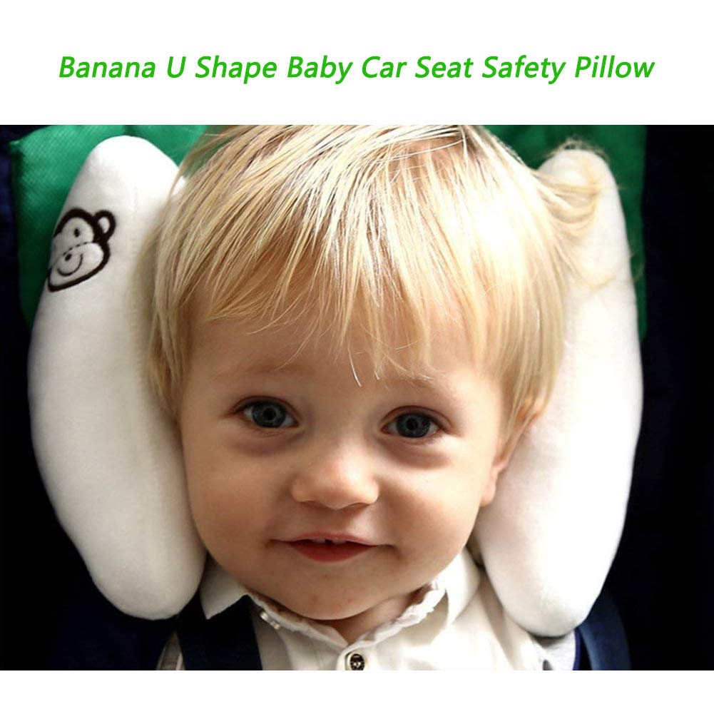 StoHua Baby Head Support for Car Seat Body Support for Toddlers Soft Cotton Head /& Neck Support White