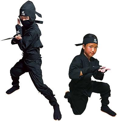 Niños Halloween Disfraz de ninja, Samurai Ninja Uniform: Amazon.es ...