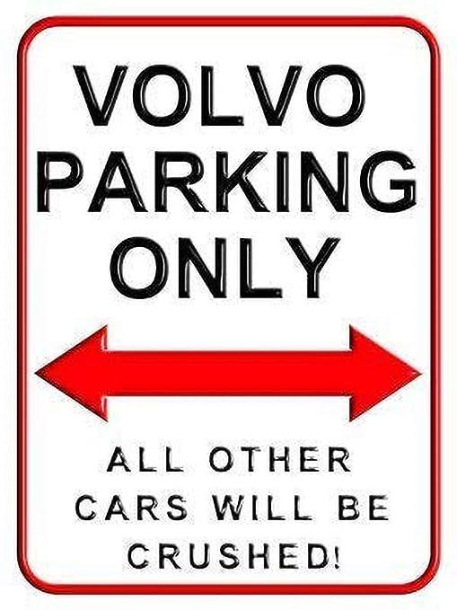 Volvo Parking Only Creatividad del Letrero de Pared Placa de ...