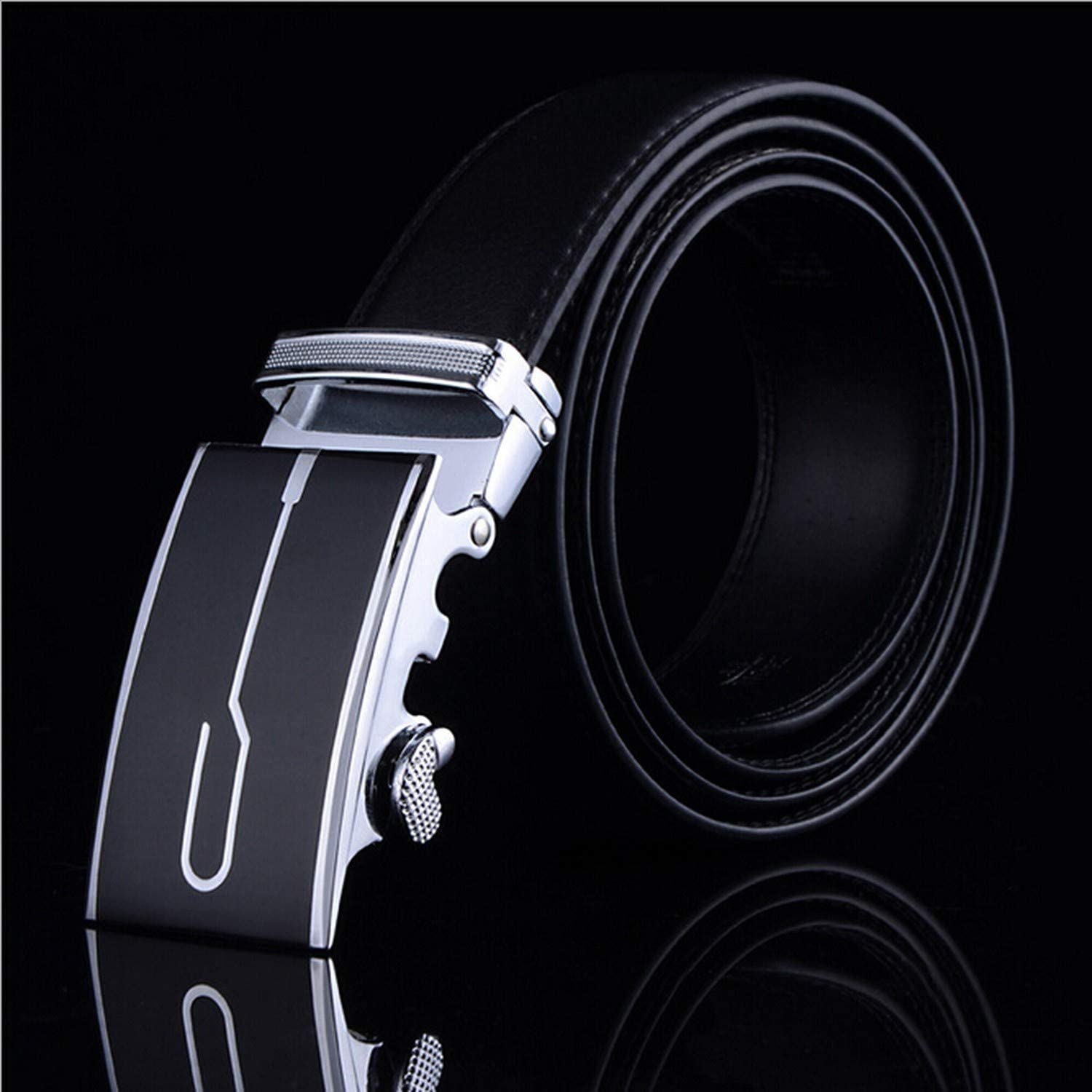 Mens Business Fashion Formal Casual Style Belt Designer Leather Strap Male Man Belt Automatic Buckle Belts For Men Top Quality,19,125cm