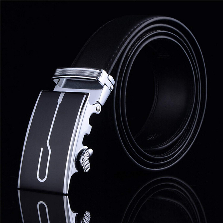 Mens Business Fashion Formal Casual Style Belt Designer Leather Strap Male Man Belt Automatic Buckle Belts For Men Top Quality,8,130cm
