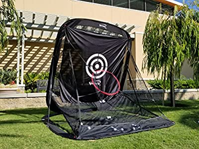 Spornia Golf Practice Automatic Ball Return System Net W/ Target sheet and Two Side Barrier