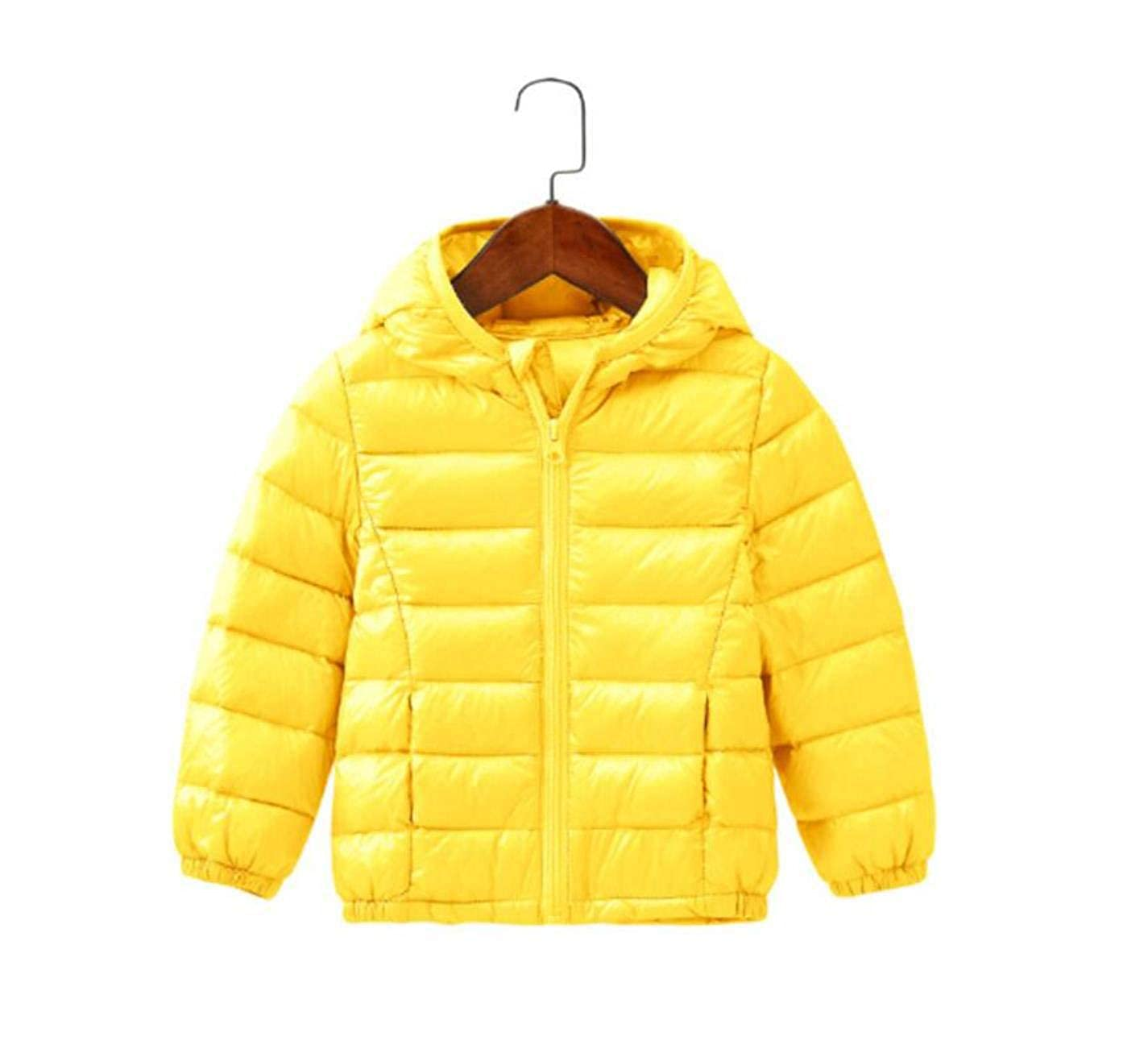 cec2dd105 Amazon.com: Girls Boys Parka Light Jacket Hood Cotton Down Coat ...
