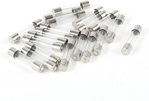 20 Stück Schnell Blow Glas Röhre Sicherung 8 A 8 Ampere 250 V 6 Mm X 30 Mm Baumarkt