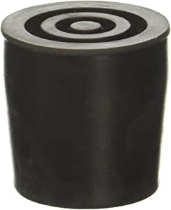Essential Medical Supply Replacement Walker/Commode Tips, Black, 1""