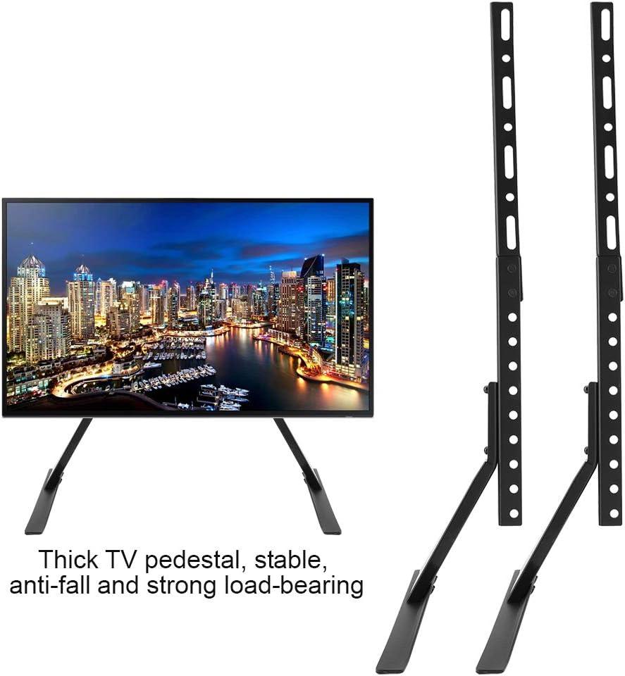 Soporte de mesa para televisor, soporte universal para TV, carga de 35 – 45 kg, soporte de mesa para TV, altura regulable, de acero de 2,5 mm de grosor, diseño triangular, 1.00V: Amazon.es: Iluminación