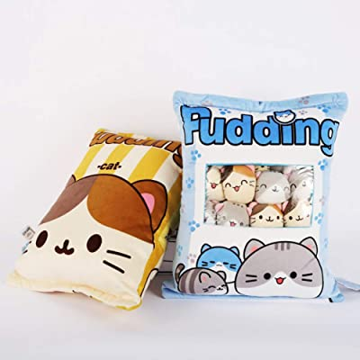 Removable Soft Fluffy Animal Dolls Toy Pillow 8 Cute BlueCat IPEAIN Cute Plush Throw Pillow Sofa Chair Decorative,Gifts Plush Cotton Stuffed Animals Pillow for Girls Kids