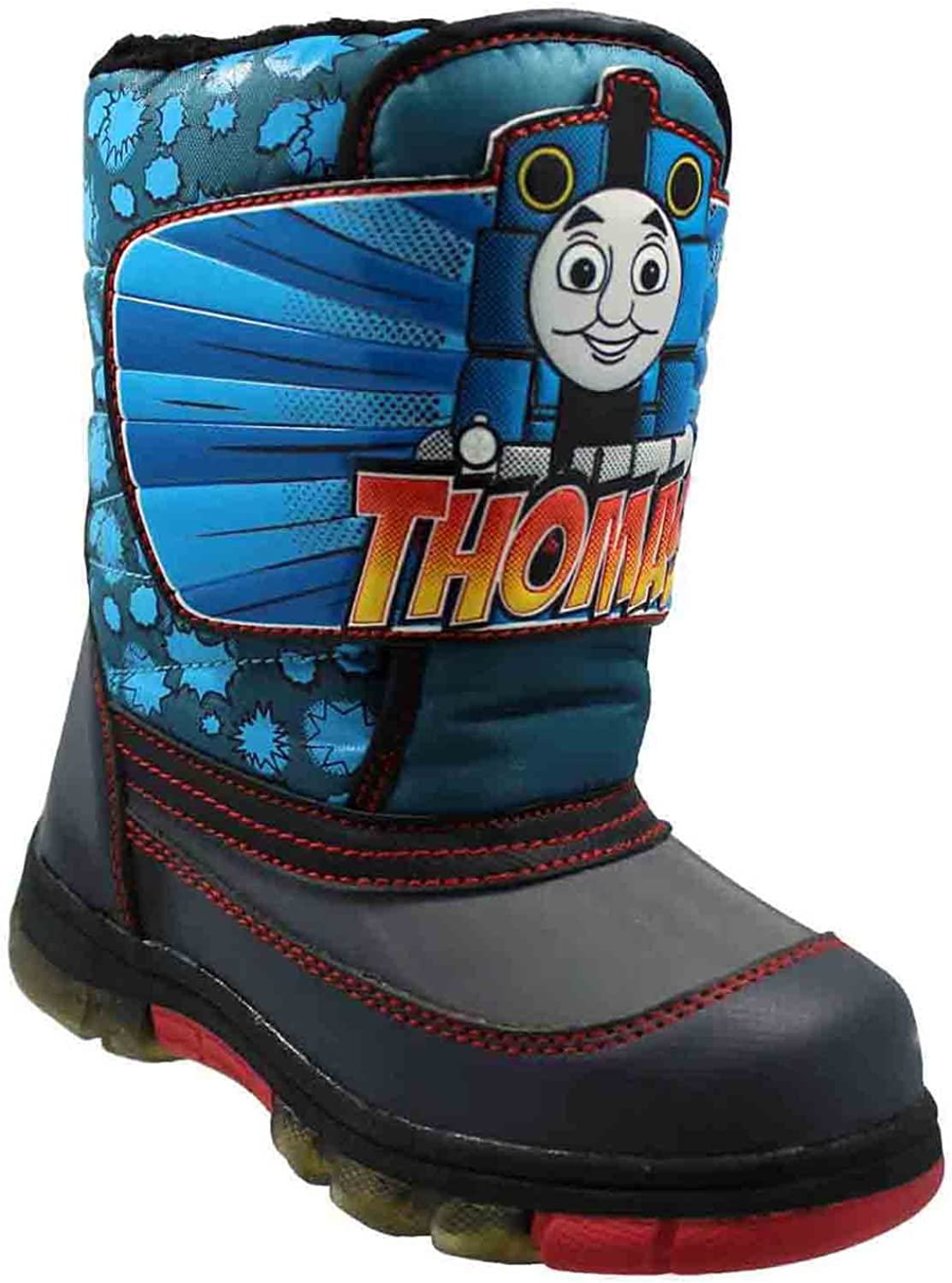 Blue Toddler Boys Thomas Winter Boots with Lights 8 M US Toddler