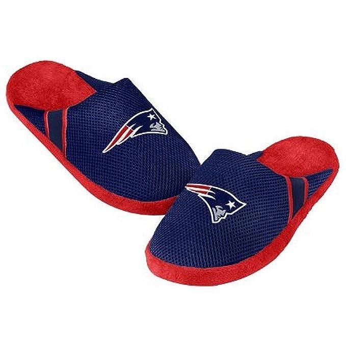 108b055b1882 Amazon.com   NFL Mens 2014 Team Color Logo Jersey Slippers Shoe - Pick Team  (New England Patriots