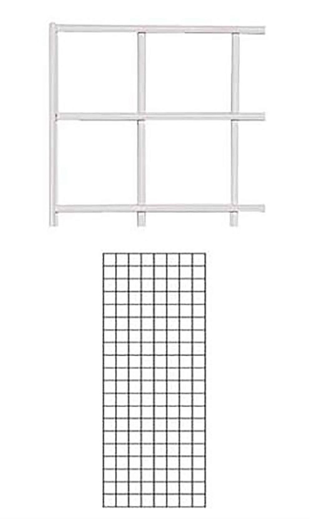 2' X 5' Wire Grid Panel - White
