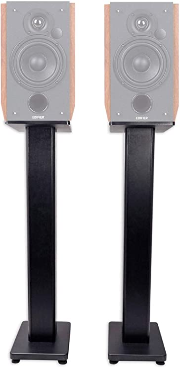 Model: PSSS1 PERLESMITH Adjustable Height Speaker Stands-Extends 30-45 Inch-Hold Satellite /& Small Bookshelf Speakers Weight up to 8lbs-Heavy Duty Floor Stands for Surround Sound-1 Pair
