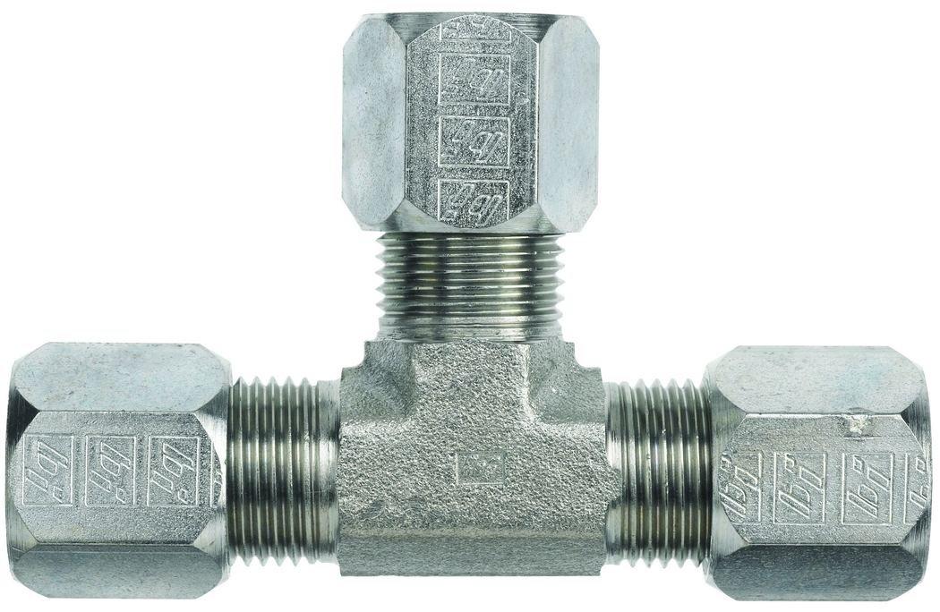 Dixon FLC2603-03 Flareless Bite Male Tube Union Tee Steel 3//16 Tube OD 0.19 ID 0.19 ID 3//16 Tube OD