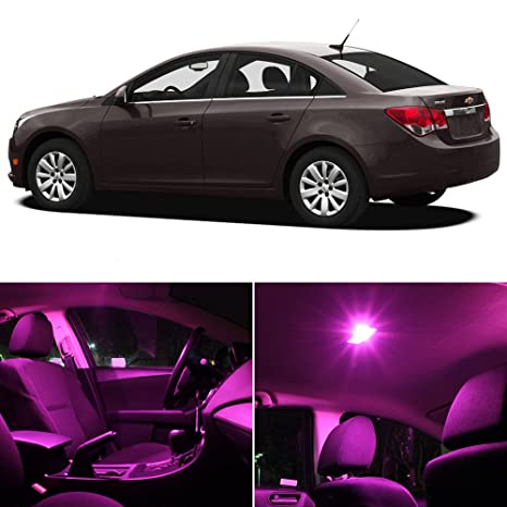Chevy Cruze 2011 2014 Pink Premium LED Interior Lights Package Kit (7  Pieces)