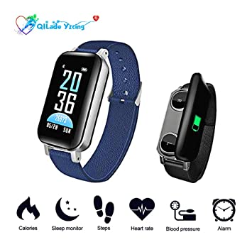 QILade Yzcing Smartwatch 3 en 1 Deportes Smartband con Auricular ...