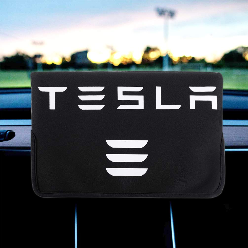 ROCCS Tesla Screen Protection Cover, Black Center Console Display Sleeve Protector Film Protector for Tesla Model 3