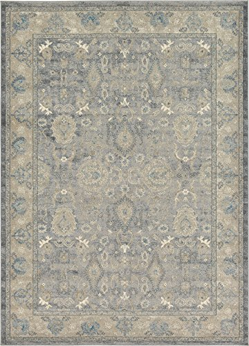 - Unique Loom Salzburg Collection Traditional Oriental Gray Area Rug (7' 0 x 10' 0)
