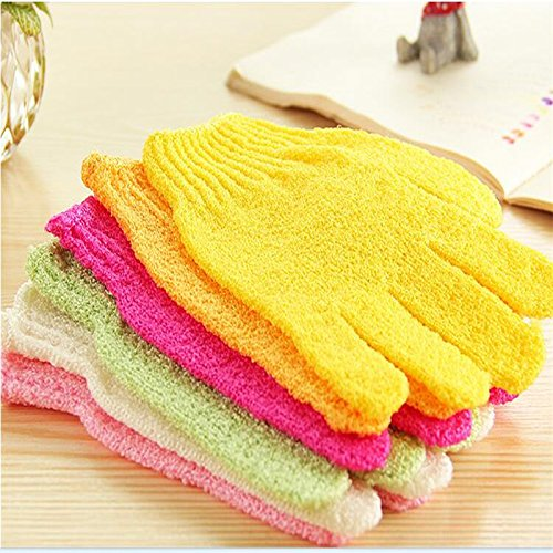1PC Newest Scrub Bath gloves-Nylon Mateial Exfoliating Bath Gloves Shower Face Skin Body Wash Massage Rubbing Mud LamberthcV