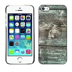 Cubierta de la caja de protección la piel dura para el Apple iPhone 5 / 5S - grain green moss pattern lines