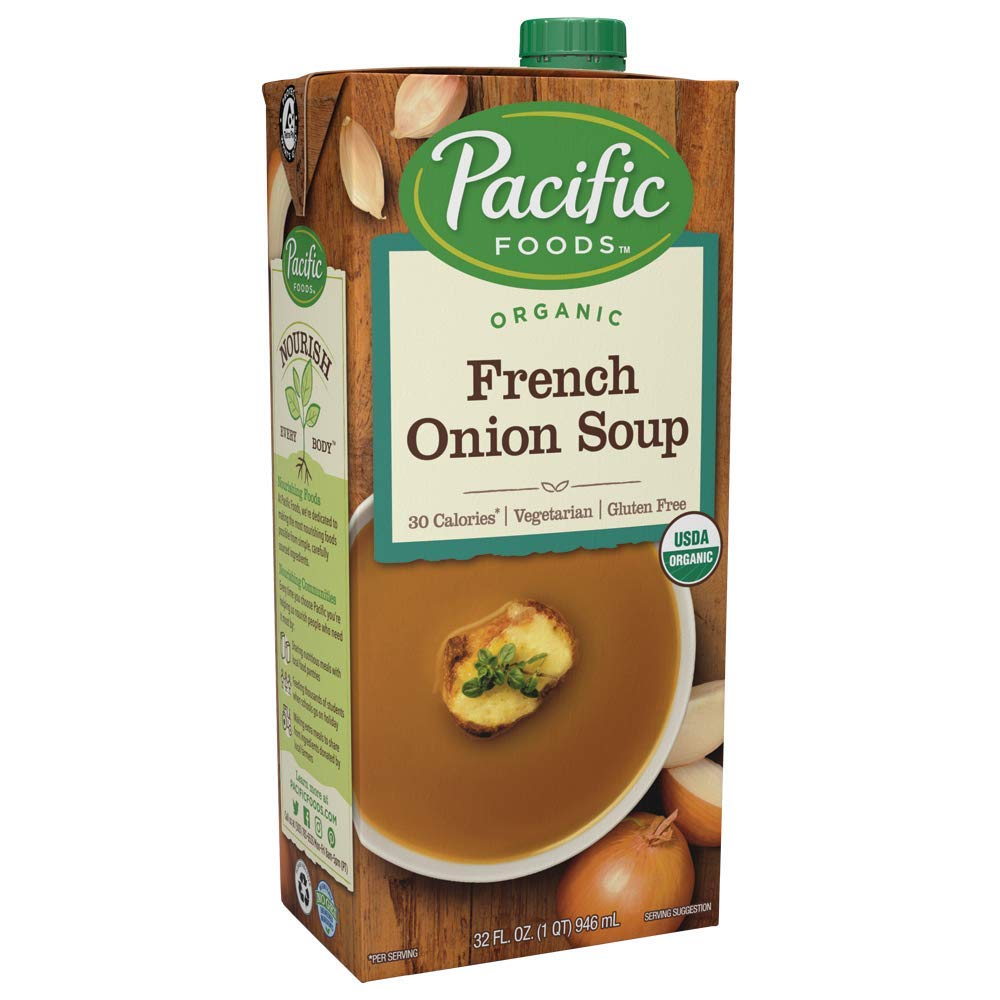 Pacific Foods Organic French Onion Soup, 32oz, 12oz by Pacific Foods