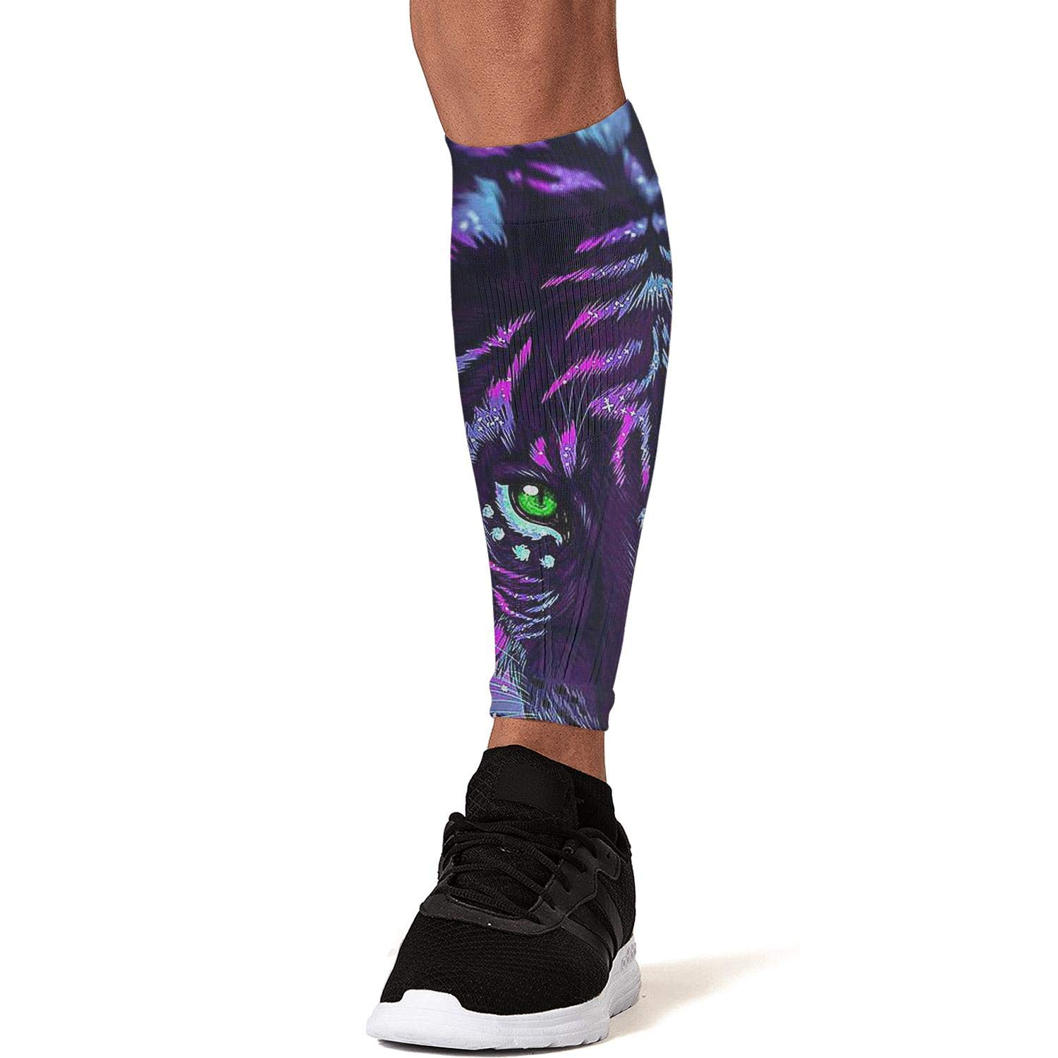 Smilelolly Psychedelic Black tiger Calf Compression Sleeves Helps Pain Relief Leg Sleeves for Men Women