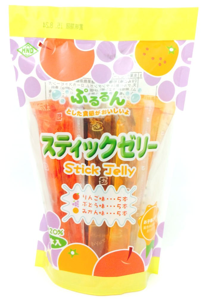 Hanada food stick jelly fruit juice 20% 15 This X15 bags by Hanada food (Image #1)