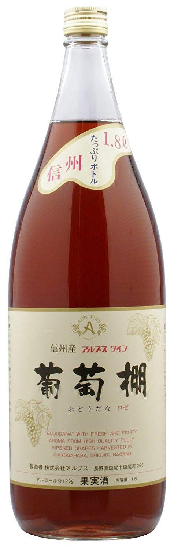 [ワイン] アルプスワイン 葡萄棚 ロゼ 1.8L瓶 6本 (1800ml)(国産)  B07HMGLHTR