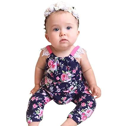 Bodysuits Summer 2017 Toddle Newborn Baby Girls Floral Sleeveless Romper Jumpsuit Body Suit Outfits Climbing Paysuit Clothes Wear New