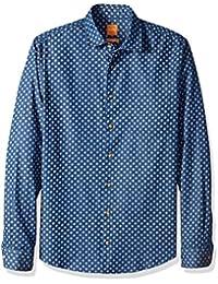 BOSS Orange Men's Epop Patterned Long Sleeve Shirt