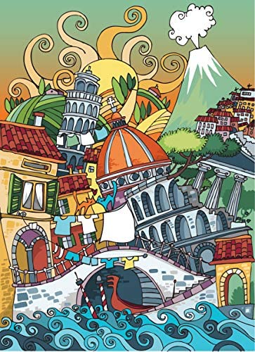 Jigsaw Puzzles for Adults 1000 Piece – Family Fun Game – Scenic Italy – Connexio Puzzles Viva Italia
