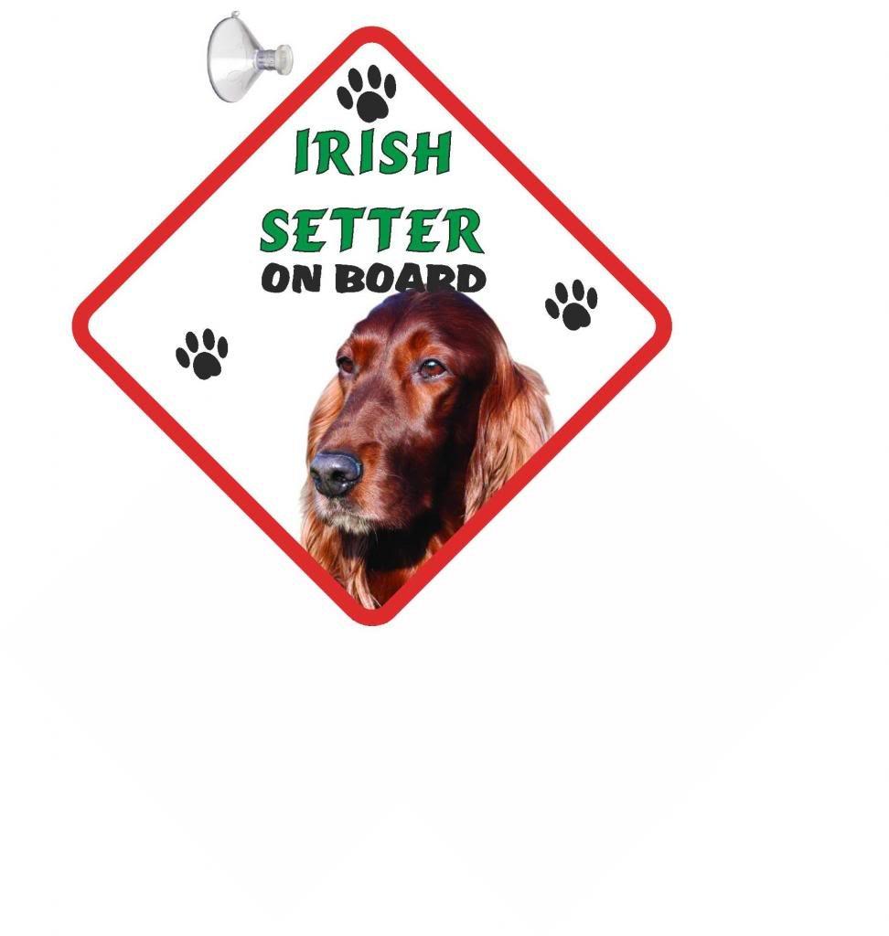 Irish Setter On Board Car Sign
