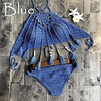 69556dfdf9fd Amazon.com: Crochet Bikini Set: Crochet Bikini Swimsuit Swimwear ...
