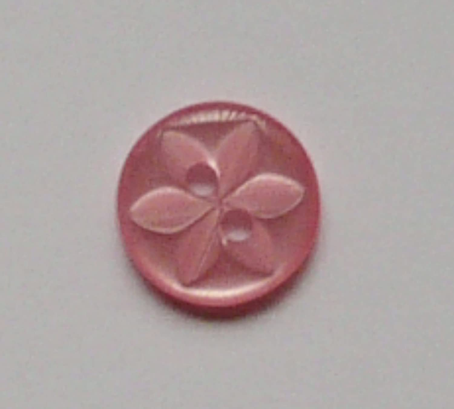 NEW PACK OF 100 14mm PINK STAR BABY BUTTONS POLYESTER SIZE 22 14MM