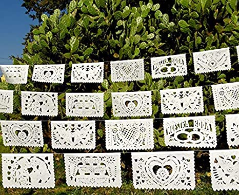 Amazon 5 Pk Mexican Wedding Decorations 50 Panels Of White