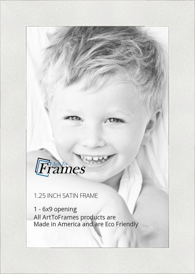 Amazon.com - ArtToFrames 6x9 inch Satin White Frame Picture Frame ...