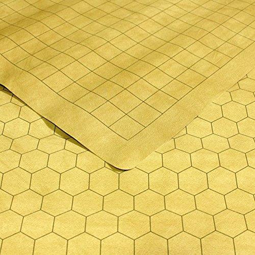 Estera de juego de juego de rol de Chessex: mantel reversible de doble cara para juegos de rol y juegos de figuras en miniatura (26 pulg. X 23 1/2 pulg.) Cuadrados /maleficios