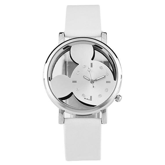 ebijoux 2580 – [blanco] Reloj mujer de pulsera Mickey – con correa ajustable a