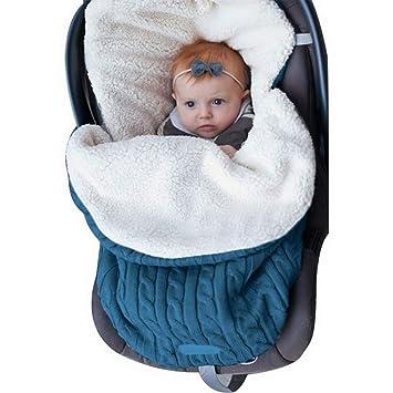 laamei Manta de Invierno para Bebé Recién Nacido Manta Envolvente Saco de Dormir Swaddle Diseño Universal y Multifunción para Sillas de Bebé, Cochecitos, ...