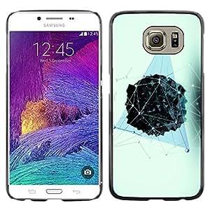 Cubierta protectora del caso de Shell Plástico || Samsung Galaxy S6 SM-G920 || Polygon Blue Pattern Vivid @XPTECH