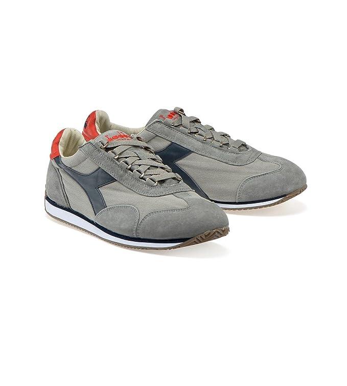 Sneakers scarpe DIADORA HERITAGE Equipe Stone Wash 12 Rain Gray/Blue Denim 2018