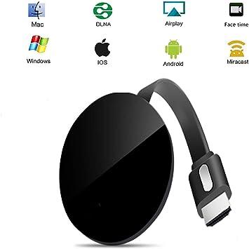 SUNSEATON Dongle de Pantalla inalámbrico WiFi para TV, Chromecast Dongle 1080P Adaptador de Receptor de TV HDMI Compatible para iOS/Android/Samsung/iPhone/iPad/Proyector/TV/Mac/Windows: Amazon.es: Electrónica