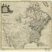 Vintage 1774 Map of North America. North America